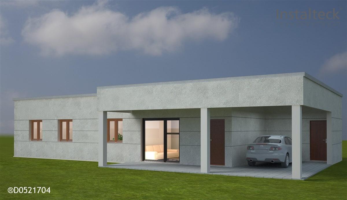 Modelo de casa modular 142. Exterior