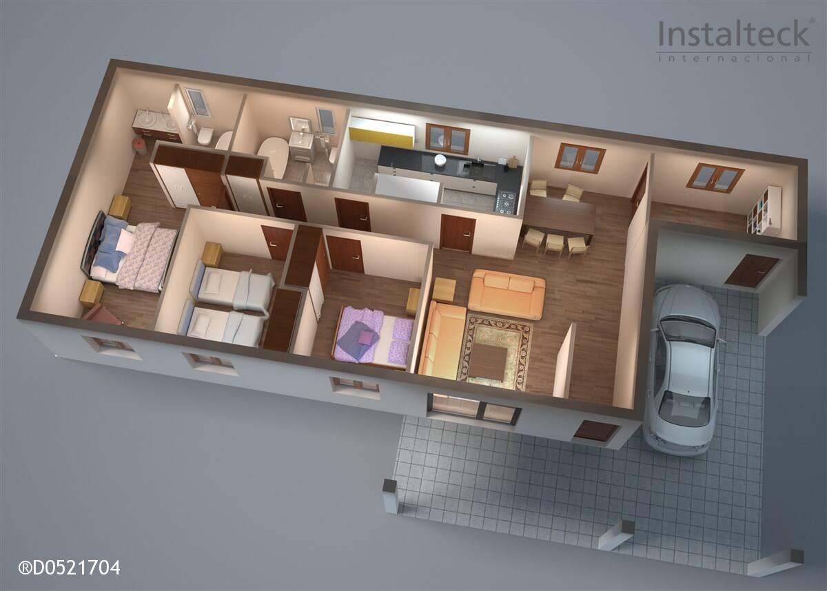 Modelo de casa modular 142. Interior