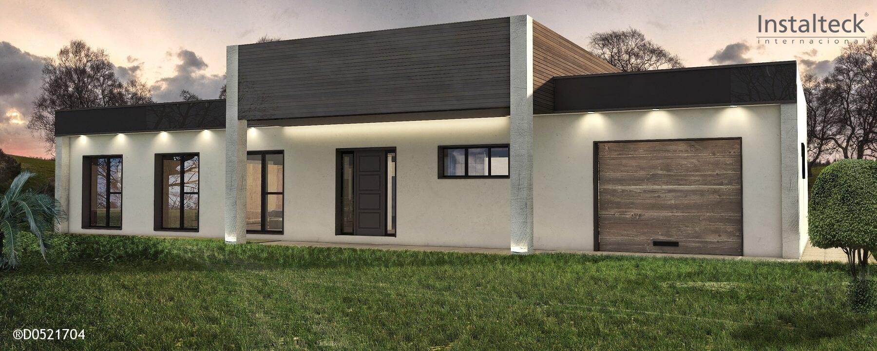 Instalteck modelo de casa modular 205 sevilla precio - Casas prefabricadas de hormigon modernas ...