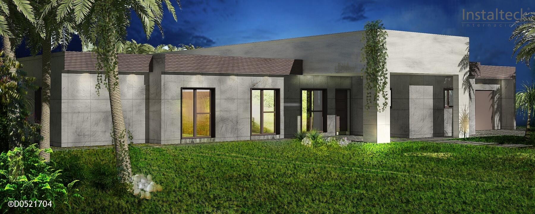 Instalteck modelo de casa modular 297 valencia precio - Precio de casas prefabricadas de hormigon ...
