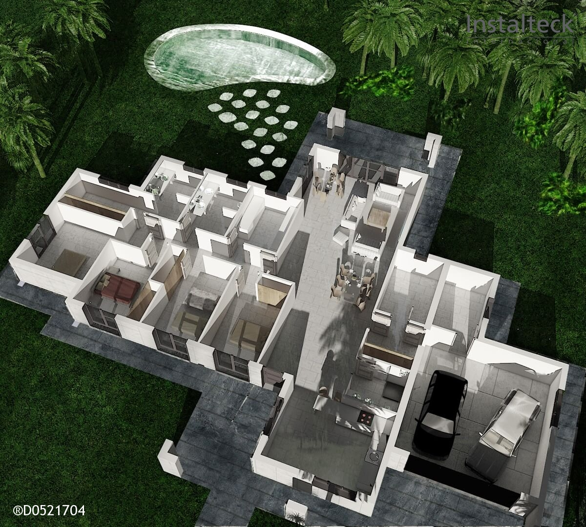Modelo de casa modular 297. Interior 1