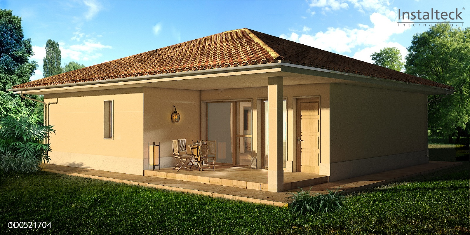 Casa prefabricada in teck 111 instalteckinstalteck - Modelos casa prefabricadas ...