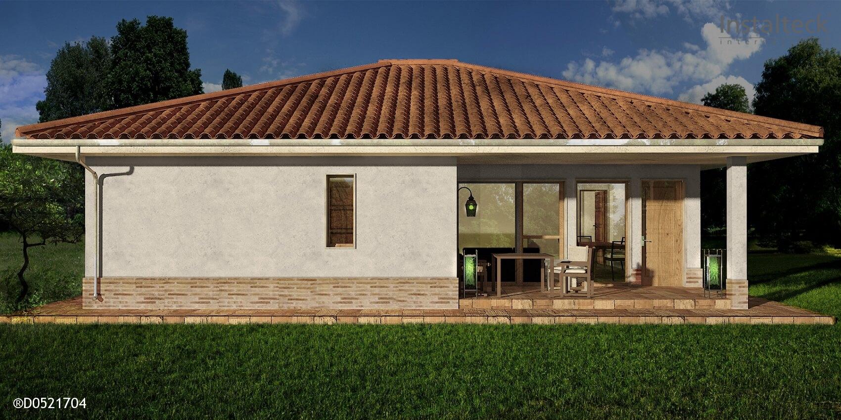 Modelo de casa prefabricada 127. Exterior 1