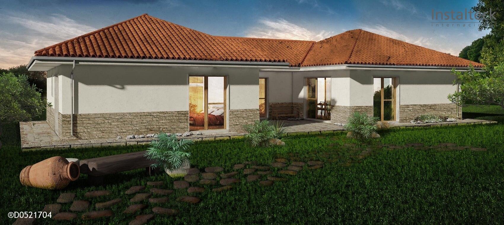 Casa prefabricada in teck 148 instalteckinstalteck - Modelo casa prefabricada ...