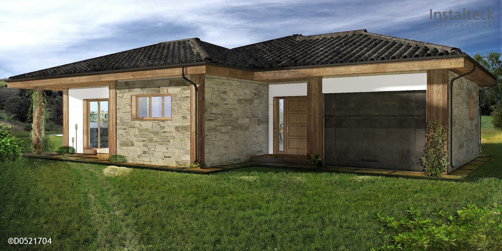 Casa prefabricada in teck 162 instalteckinstalteck - Modelos casa prefabricadas ...