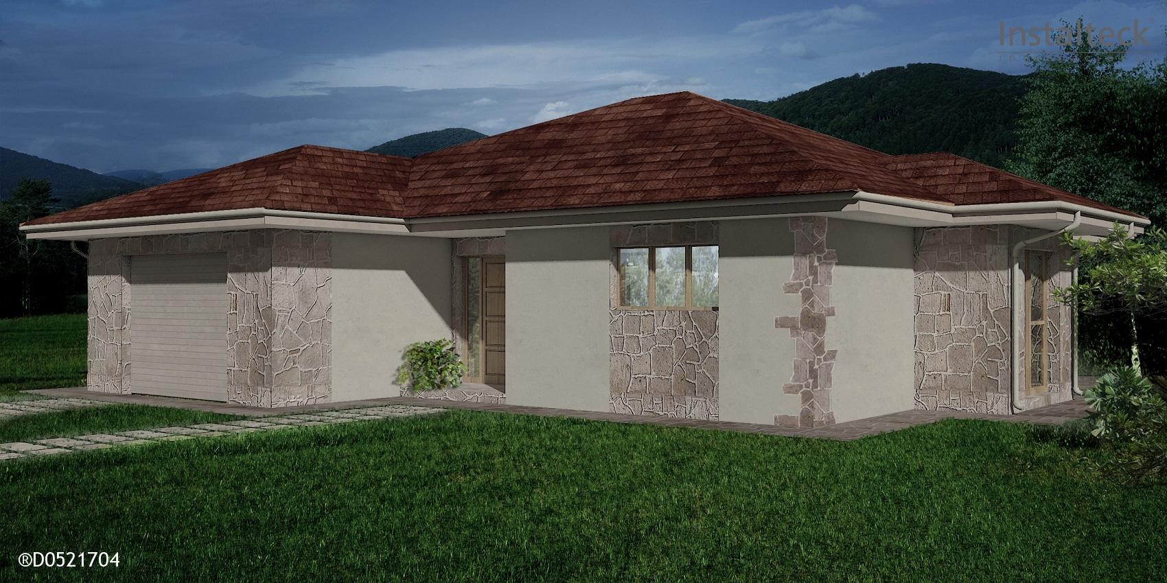 Modelo de casa prefabricada 165. Exterior 1