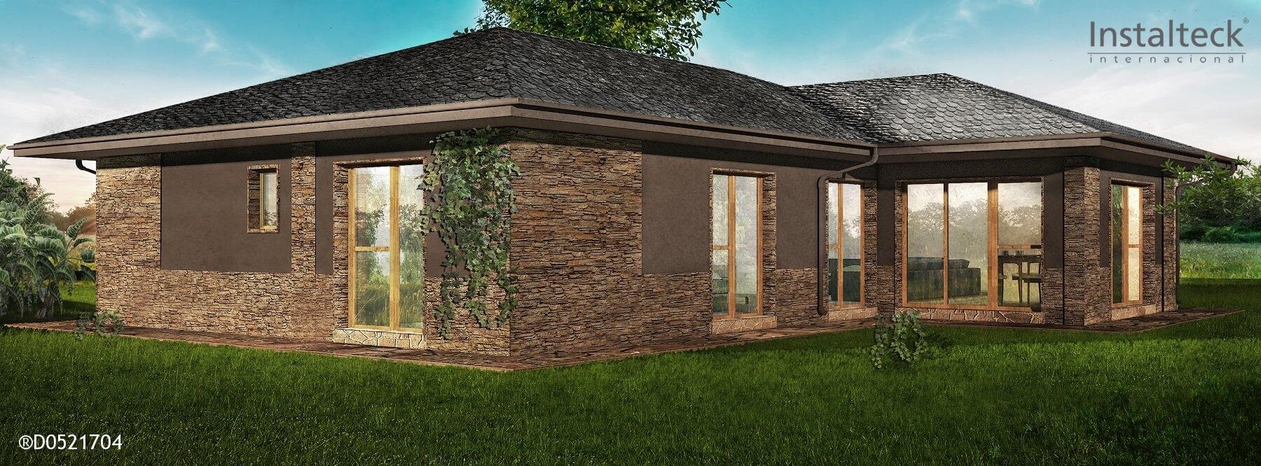 Casa prefabricada in teck 186 instalteckinstalteck for Modelos de casas prefabricadas