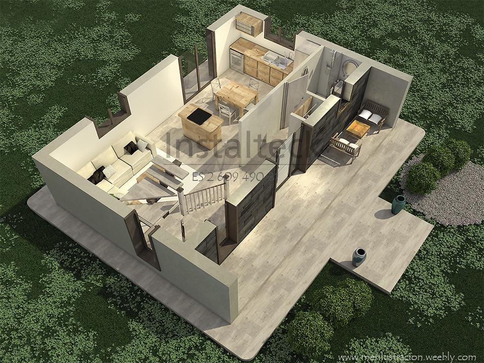 Vivienda prefabricada en 2 alturas - Instalteck