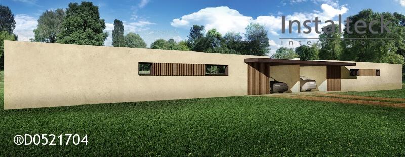 Modelo de casa modular 154 duo. Exterior 2