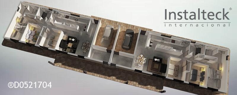 Modelo de casa modular 154 duo. Interior 1 tiny