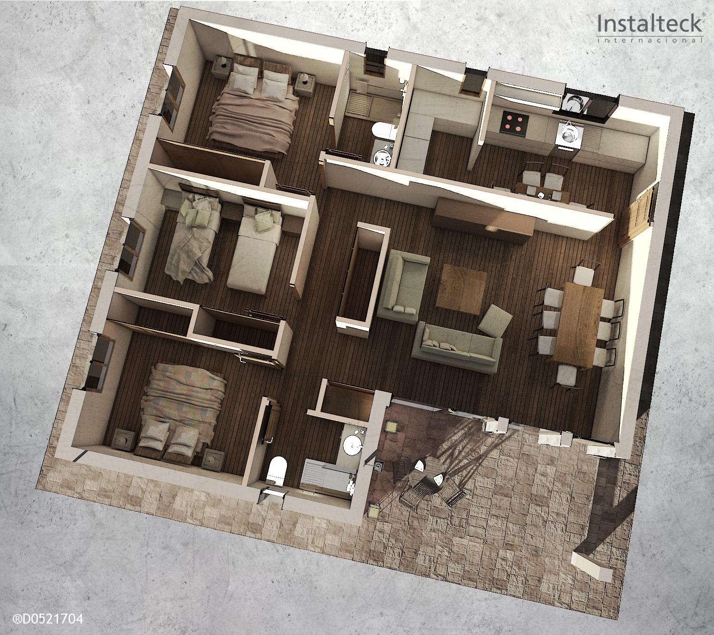 Modelo de casa prefabricada 111. Interior