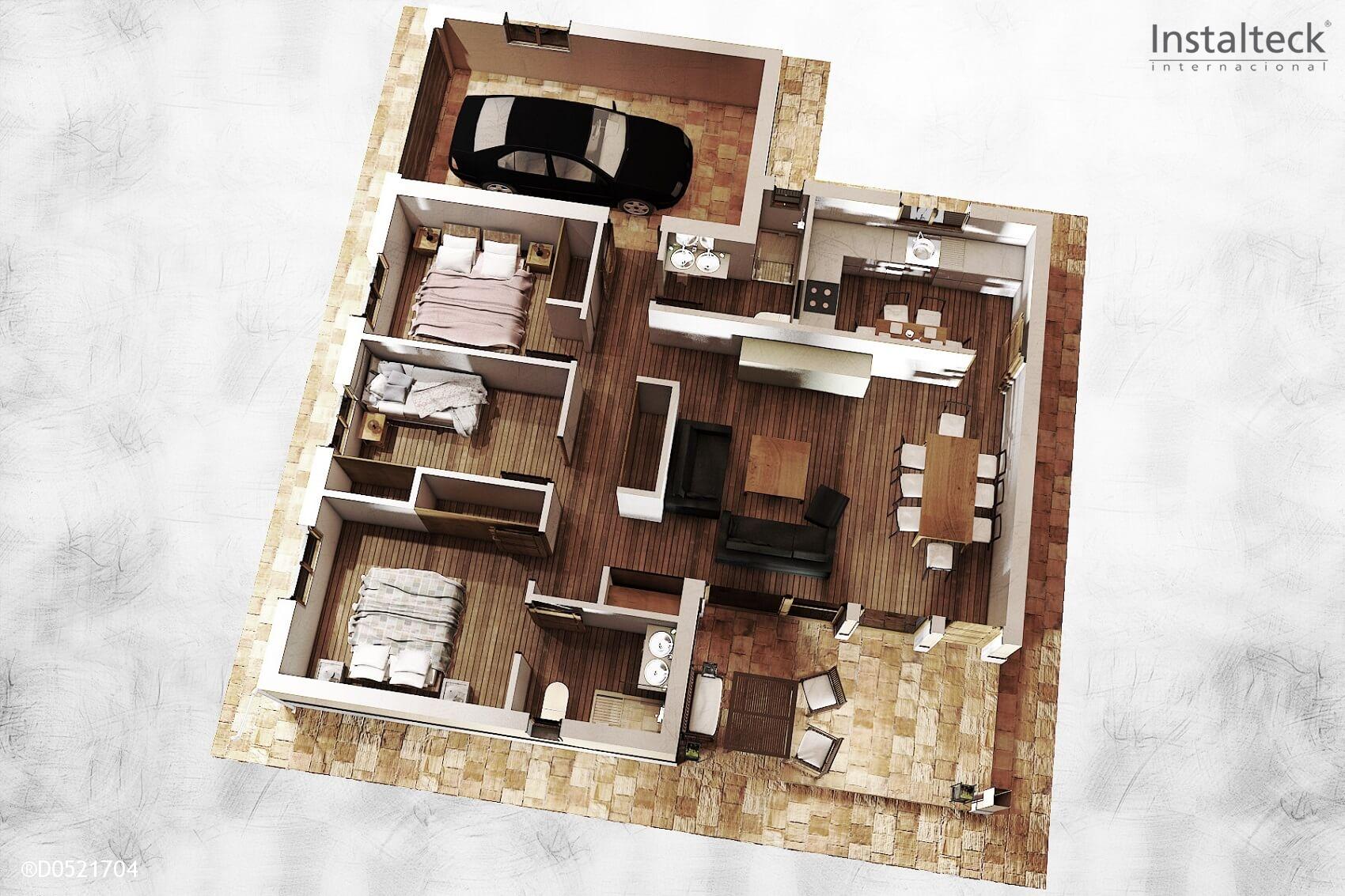 Modelo de casa prefabricada 127. Interior 1