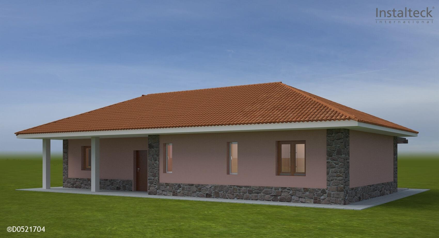 Modelo de casa prefabricada 131. Exterior