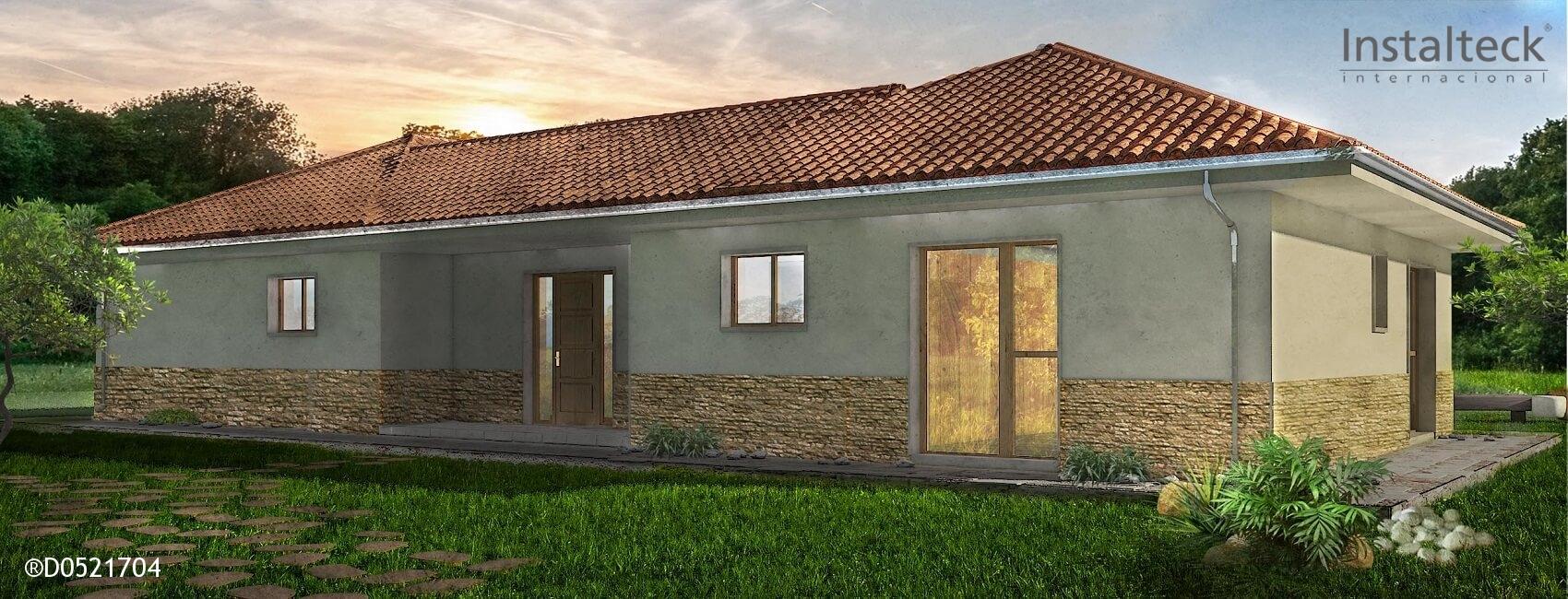 Modelo de casa prefabricada 148. Exterior 1