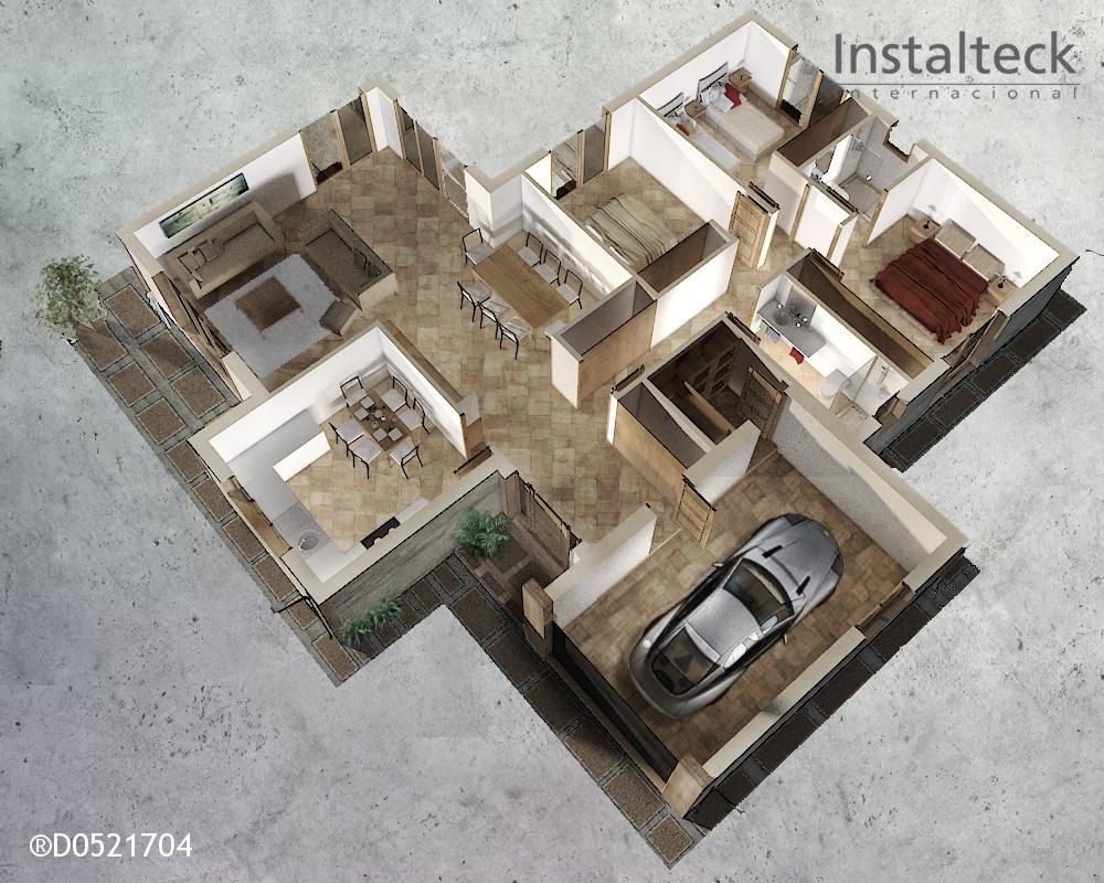 Modelo de casa prefabricada 162. Interior 1